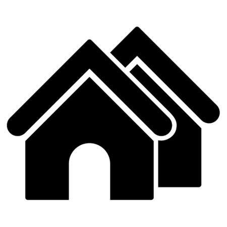 settlement: Real Estate icon. Vector style is flat iconic symbol, black color, white background.