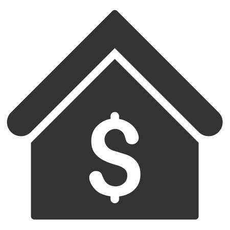 bank office: Bank Office icon. Vector style is flat iconic symbol, gray color, white background. Illustration