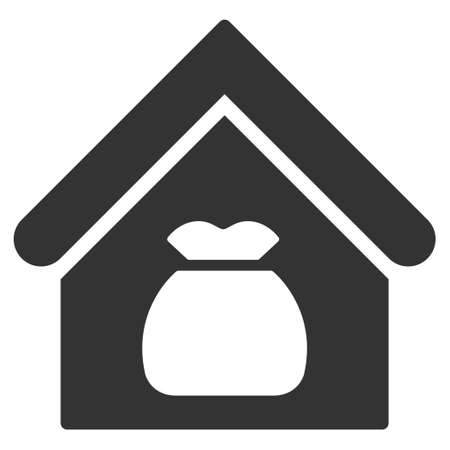 office products: Harvest Warehouse icon. Vector style is flat iconic symbol, gray color, white background.