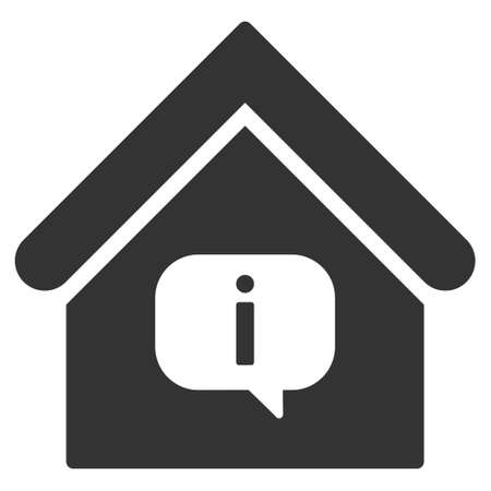 hint: Hint Building icon. Vector style is flat iconic symbol, gray color, white background.