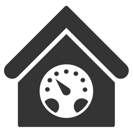 Meter Building Icon. Vector Style Is Flat Iconic Symbol, Gray ...