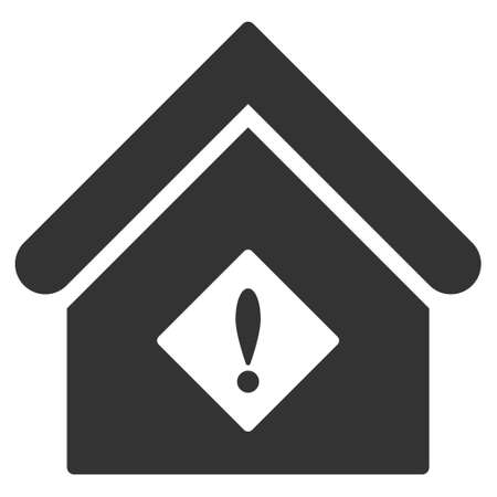 Problem Building icon. Vector style is flat iconic symbol, gray color, white background.
