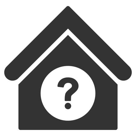 status icon: Status Building icon. Vector style is flat iconic symbol, gray color, white background.