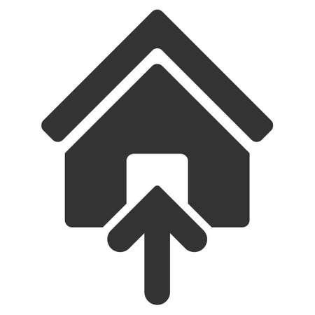 building entrance: Building Entrance icon. Vector style is flat iconic symbol, gray color, white background.