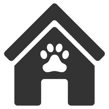 doghouse: Doghouse icon. Vector style is flat iconic symbol, gray color, white background. Illustration
