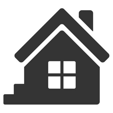 porch: House Porch icon. Vector style is flat iconic symbol, gray color, white background.