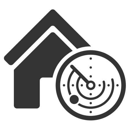 blip: Realty Radar icon. Vector style is flat iconic symbol, gray color, white background.