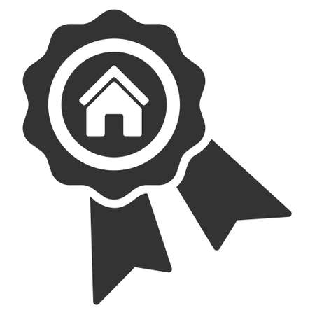 real trophy: Realty Award icon. Vector style is flat iconic symbol, gray color, white background.