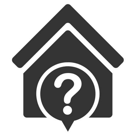 realty: Realty State icon. Vector style is flat iconic symbol, gray color, white background.