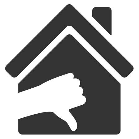 ugly gesture ugly gesture: Terrible House icon. Vector style is flat iconic symbol, gray color, white background.