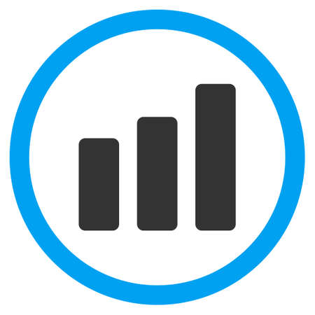 bar chart increase glyph bicolor rounded icon image style is rh 123rf com