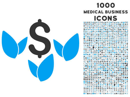 agriculture icon: Agriculture Startup glyph bicolor icon with 1000 medical business icons. Set style is flat pictograms, blue and gray colors, white background. Stock Photo