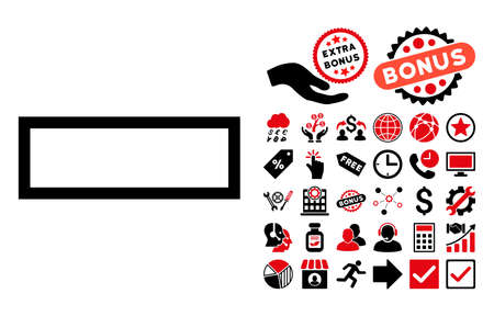 subtraction: Minus icon with bonus pictures. Vector illustration style is flat iconic bicolor symbols, intensive red and black colors, white background. Illustration