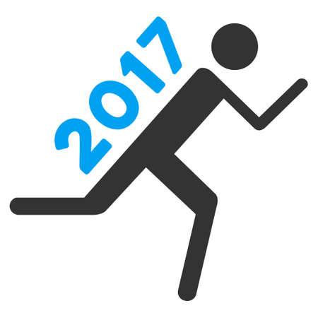 2017 Courier icon. Vector style is flat iconic symbol on a white background.