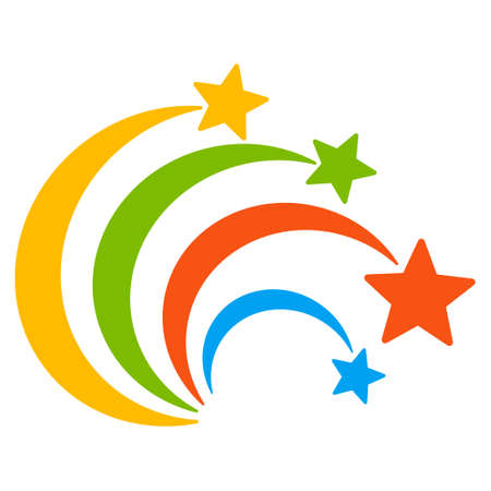 christmas cracker: Festival Fireworks icon. Glyph style is flat iconic symbol on a white background. Stock Photo