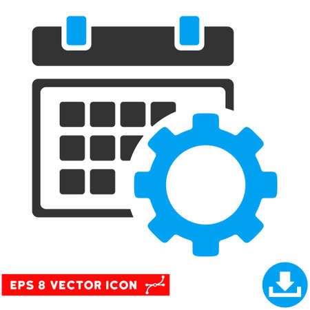 schedule system: Blue And Gray Schedule Options EPS vector icon. Illustration style is flat iconic bicolor symbol on a white background.