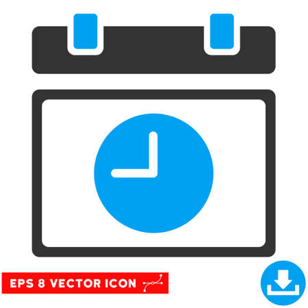 eps vector icon: Blue And Gray Time Schedule EPS vector icon. Illustration style is flat iconic bicolor symbol on a white background.