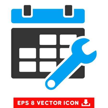 cronograma: Azul Y Gris Opciones Horario de BPA pictograma vector. estilo de ilustraci�n es el s�mbolo plano bicolor ic�nico en un fondo blanco. Vectores