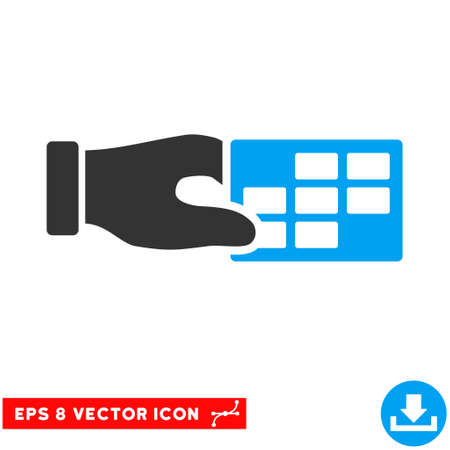 timetable: Blue And Gray Timetable Properties EPS vector icon. Illustration style is flat iconic bicolor symbol on a white background.