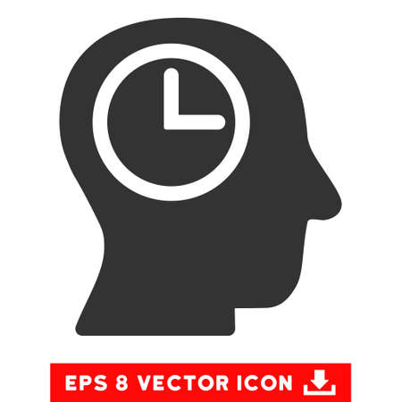 temporary workers: Gray Time Manager EPS vector icon. Illustration style is flat iconic symbol on a white background.