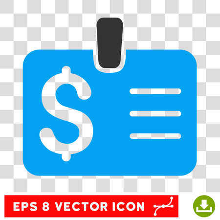 allowed to pass: Dollar Badge vector icon. Image style is a flat blue and gray iconic symbol. Illustration