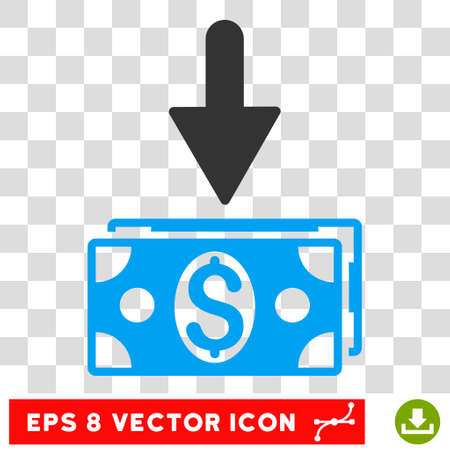 Get Dollar Banknotes vector icon. Image style is a flat blue and gray icon symbol.