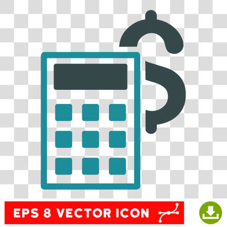 adder: Business Calculator vector icon. Image style is a flat soft blue pictogram symbol.