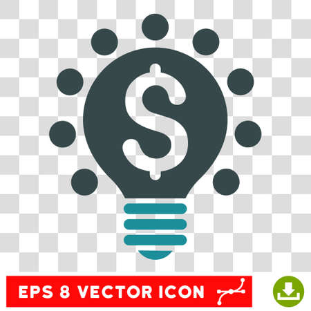 patent: Business Patent Bulb vector icon. Image style is a flat soft blue iconic symbol. Illustration