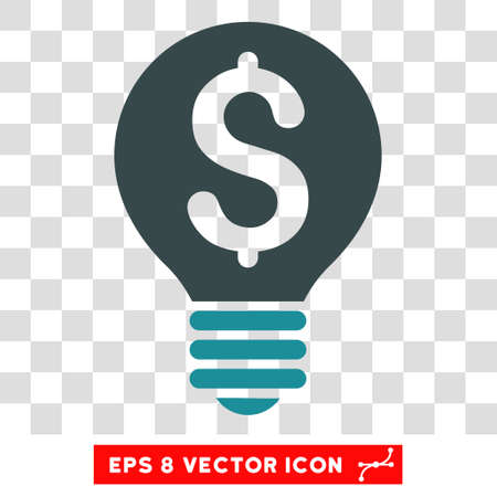 patent: Business Patent Bulb vector icon. Image style is a flat soft blue pictograph symbol. Illustration