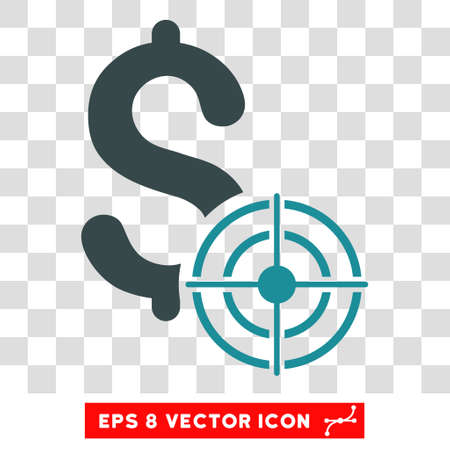 sniper: Business Target vector icon. Image style is a flat soft blue pictograph symbol. Illustration