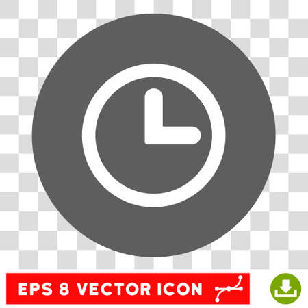 clockface: Clock round icon. Vector EPS illustration style is flat iconic bicolor symbol, white and silver colors, transparent background.