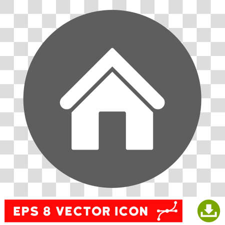 background house: Home round icon. Vector EPS illustration style is flat iconic bicolor symbol, white and silver colors, transparent background.