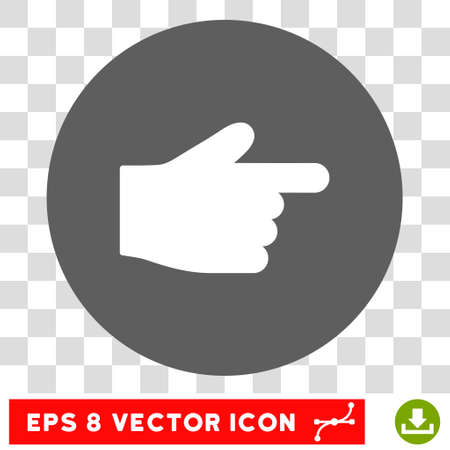 finger index: Index Finger round icon. Vector EPS illustration style is flat iconic bicolor symbol, white and silver colors, transparent background.