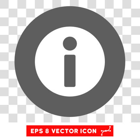 hint: Information round icon. Vector EPS illustration style is flat iconic bicolor symbol, white and silver colors, transparent background.