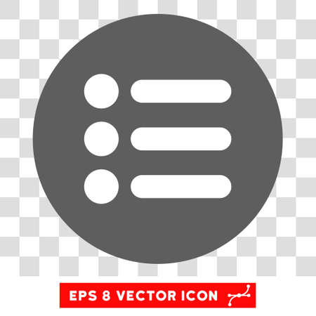 item list: Items round icon. Vector EPS illustration style is flat iconic bicolor symbol, white and silver colors, transparent background.