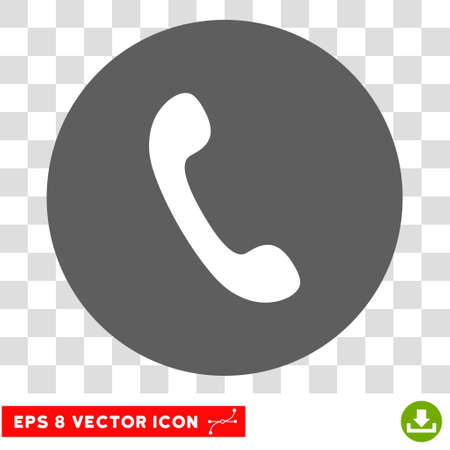 phone receiver: Phone Receiver round icon. Vector EPS illustration style is flat iconic bicolor symbol, white and silver colors, transparent background.