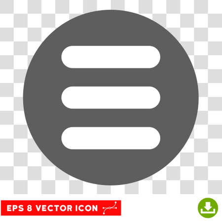 Stack round icon. Vector EPS illustration style is flat iconic bicolor symbol, white and silver colors, transparent background. Illustration