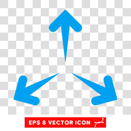 expand: Expand Arrows round icon. Vector EPS illustration style is flat iconic symbol, blue color, transparent background.