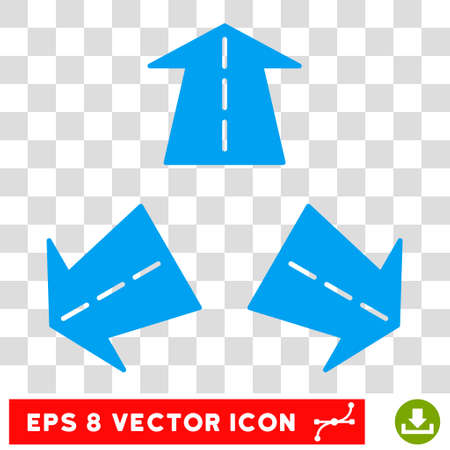 Road Directions round icon. Vector EPS illustration style is flat iconic symbol, blue color, transparent background. Illustration