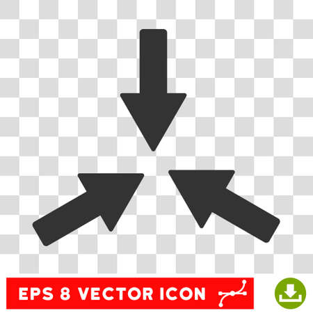 collide: Collide Arrows round icon. Vector EPS illustration style is flat iconic symbol, gray color, transparent background.