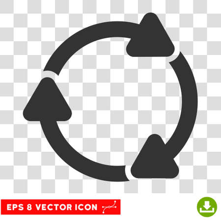 Rotate CW round icon. Vector EPS illustration style is flat iconic symbol, gray color, transparent background.