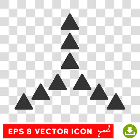 eps vector icon: Outside Direction round icon. Vector EPS illustration style is flat iconic symbol, gray color, transparent background.
