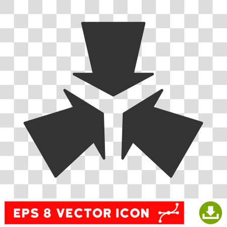 shrink: Shrink Arrows round icon. Vector EPS illustration style is flat iconic symbol, gray color, transparent background.