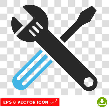 software tool icon. install software vector tools eps pictograph illustration style is flat iconic bicolor blue tool icon