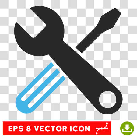 Vector Tools EPS vector pictogram. Illustration style is flat iconic bicolor blue and gray symbol on a transparent background. Illustration