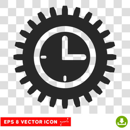 eps vector icon: Vector Time Options EPS vector icon. Illustration style is flat iconic gray symbol on a transparent background.