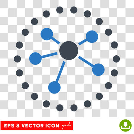 Vector Links Diagram EPS vector pictogram. Illustration style is flat iconic bicolor smooth blue symbol on a transparent background.