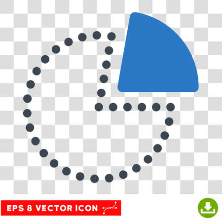 Vector Pie Chart EPS vector pictograph. Illustration style is flat iconic bicolor smooth blue symbol on a transparent background.