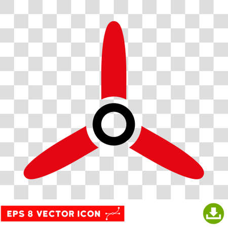 turn screw: Vector Three Bladed Screw EPS vector icon. Illustration style is flat iconic bicolor intensive red and black symbol on a transparent background. Illustration