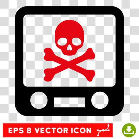 screening: Vector Xray Screening EPS vector pictogram. Illustration style is flat iconic bicolor intensive red and black symbol on a transparent background. Illustration